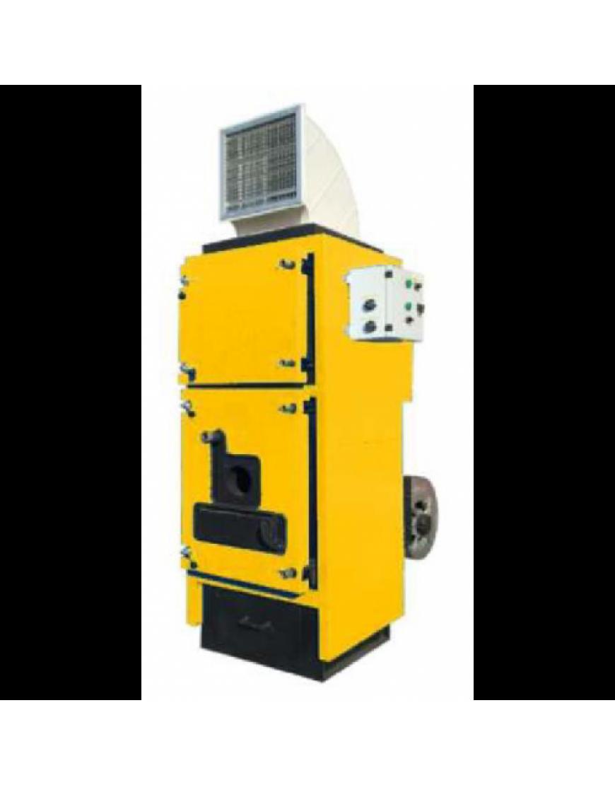 Generator aer cald , cu functionare pe lemne , 3 drumuri gaze arse, usor de curatat , Thermostahl , SLV 100